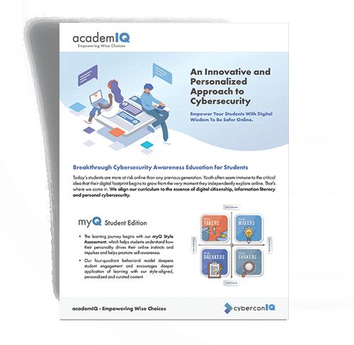 cyberconIQ - academIQ intro brochure